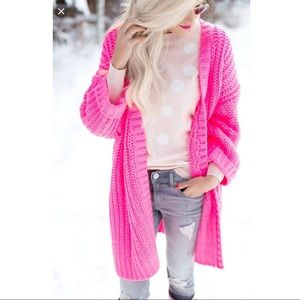 URBAN OUTFITTERS SILENCE + NOISE ALLY NEON CARDI